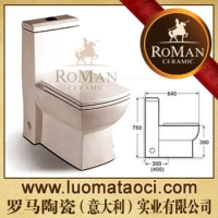 罗马陶瓷(意大利)卫浴-连体座便器-马桶-卫生洁具-坐便器