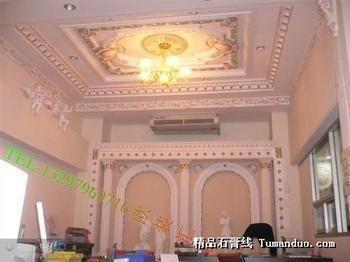 石膏柱子影视墙图片展示