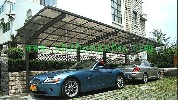 上海停车篷固定停车棚耐力板停车篷工厂直销