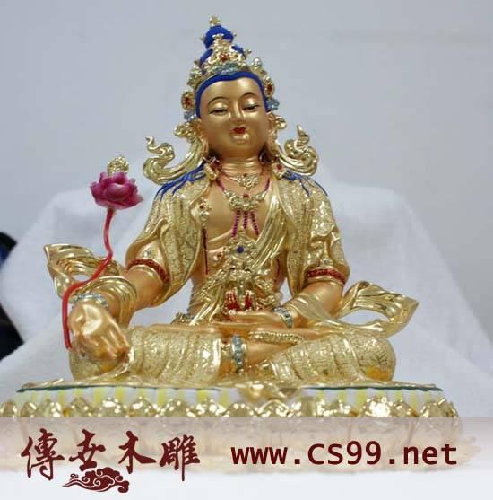 木雕佛像+玻璃钢佛像+树脂佛像 大势至菩萨
