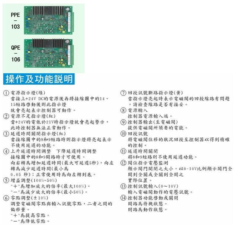 比例阀控制器-印刷电路板64ppe-102 & q