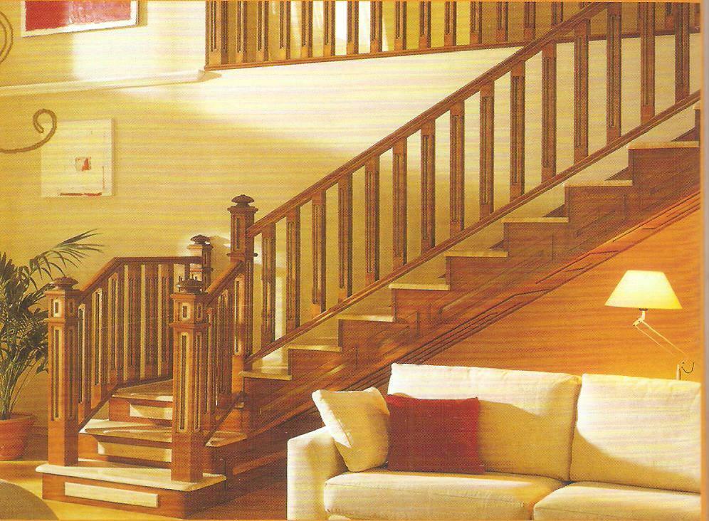 全实木结构楼梯