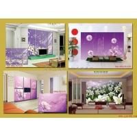 电视背景墙  玻璃电视背景墙 冰晶电视背景墙