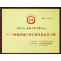 中国木质门诚信企业30 强