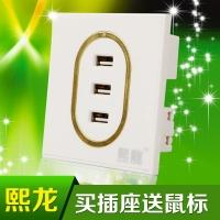 熙龙USB插座  墙壁USB插座  墙壁充电面板