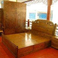 嘉达仿古家具-卧室5件套
