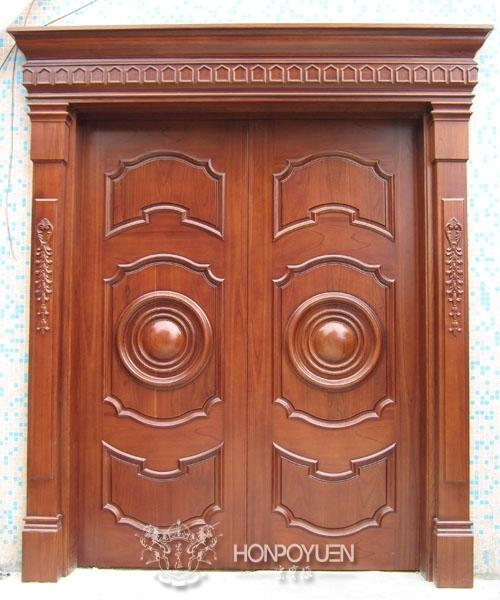 双开门系列|宏宝源实木家居|西安别墅门图片
