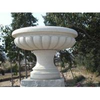 黄锈石花盆,芝麻白花钵,园林景观花盆,水钵,喷泉盆,广场石材