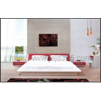 现代板式家具/哑光漆/时尚成人彩色套房/床