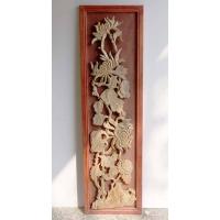 木雕壁饰—菊