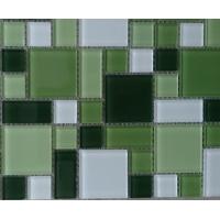 小清新绿色水晶玻璃马赛克-现货供应