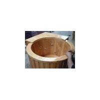 厂家直销干蒸房香柏木进口橡木浴桶负离子蒸气桶