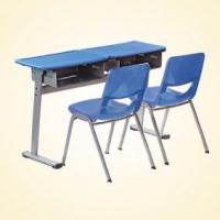 双人位课桌椅  塑料课桌椅  学生课桌