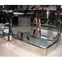 不锈钢黑钢摆设台,不锈钢服装展示架