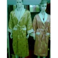 竹纤维绸缎浴袍