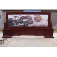 枣庄百福木艺厂专业定做屏风,红木屏风,彩雕屏风,木雕屏风