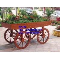 广州房地产园林花箱花车,户外花箱,佛山花园园林木制景观花车