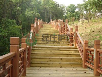 仿木护栏,仿木栈道,栈道栏杆,园林护栏,景观护栏,隔离护栏