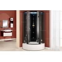 [好运洁具] 现代风格 多功能黑色铝框蒸汽淋浴房