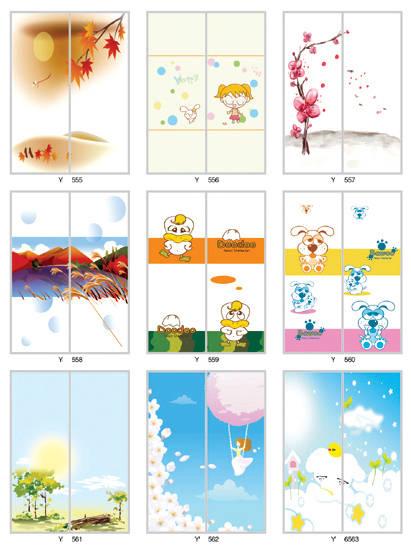 儿童房卡通系列65|得尔佳衣柜门图片