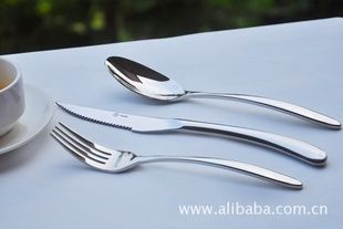不锈钢餐具牛排刀叉勺子三件 酒店餐厅专用餐具 刀叉更