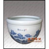 景德镇陶瓷大缸陶瓷鱼缸陶瓷高脚缸陶瓷花盆开业礼品手工雕刻大缸