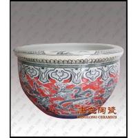 景德镇陶瓷大缸 陶瓷鱼缸 陶瓷高脚缸 陶瓷花盆 开业乔迁礼品