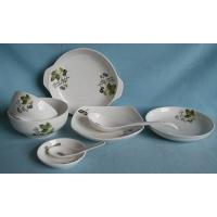 精美的陶瓷餐具组装 田园春色