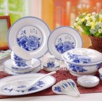 56头陶瓷餐具,釉中彩陶瓷餐具 景德镇陶瓷餐具