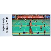 英利奥水晶纱高级竞赛羽毛球馆专用塑胶地板天津运动地板专业铺设
