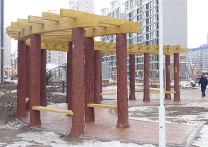 仿木栏杆仿木树桩仿木花架
