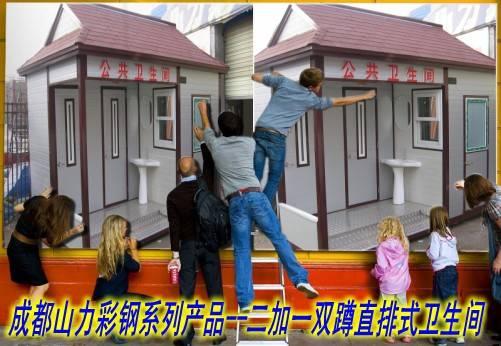 厕所带管理间双蹲位直排式卫生间01