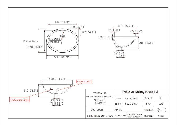 产品尺寸结构图 sn022
