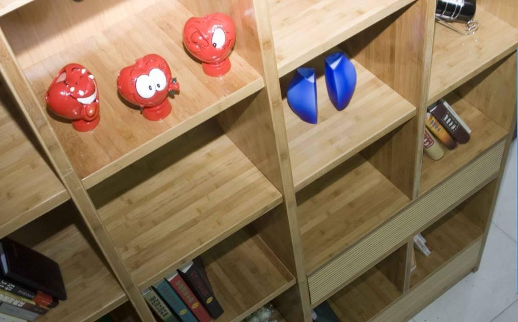 竹制板式书柜