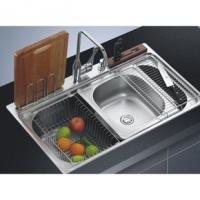 红田家居厨房用具不锈钢单把双槽水槽龙头套餐