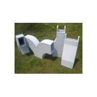 【优质矩形】长筒式无机A级不燃型玻璃钢通风管道