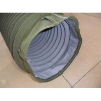 供应耐高温帆布伸缩软连接,高温帆布油缸伸缩防护罩