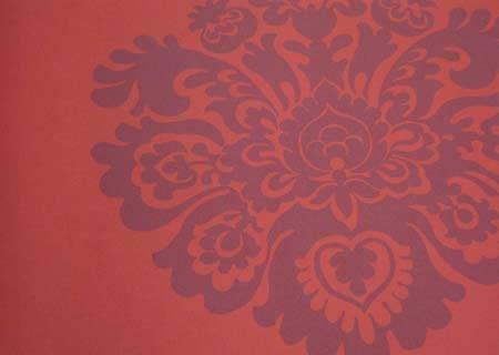欧式反光花纹墙纸贴图