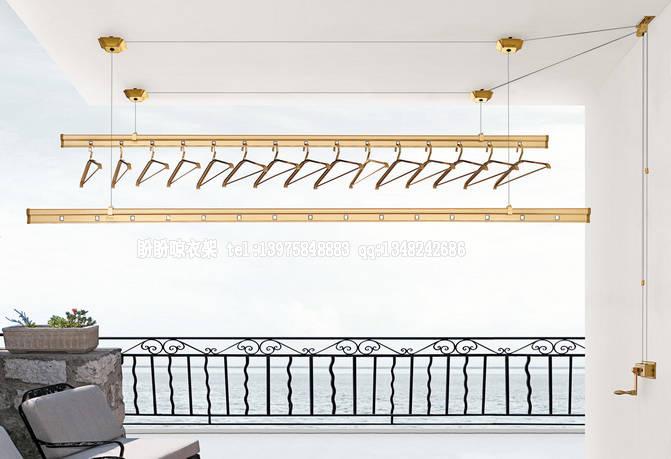 阳台晾衣架 长沙手摇升降晾衣架