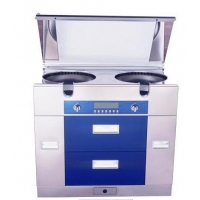 油煙機,灶具,消毒烘干柜,儲藏,空氣凈化集成環保灶(寶石藍)