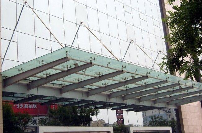 不锈钢玻璃雨棚