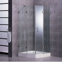 德立淋浴房-新钻石形外开门淋浴房