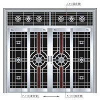 南京不锈钢门-钢将军门业-南京拉闸门-推拉门-F-116