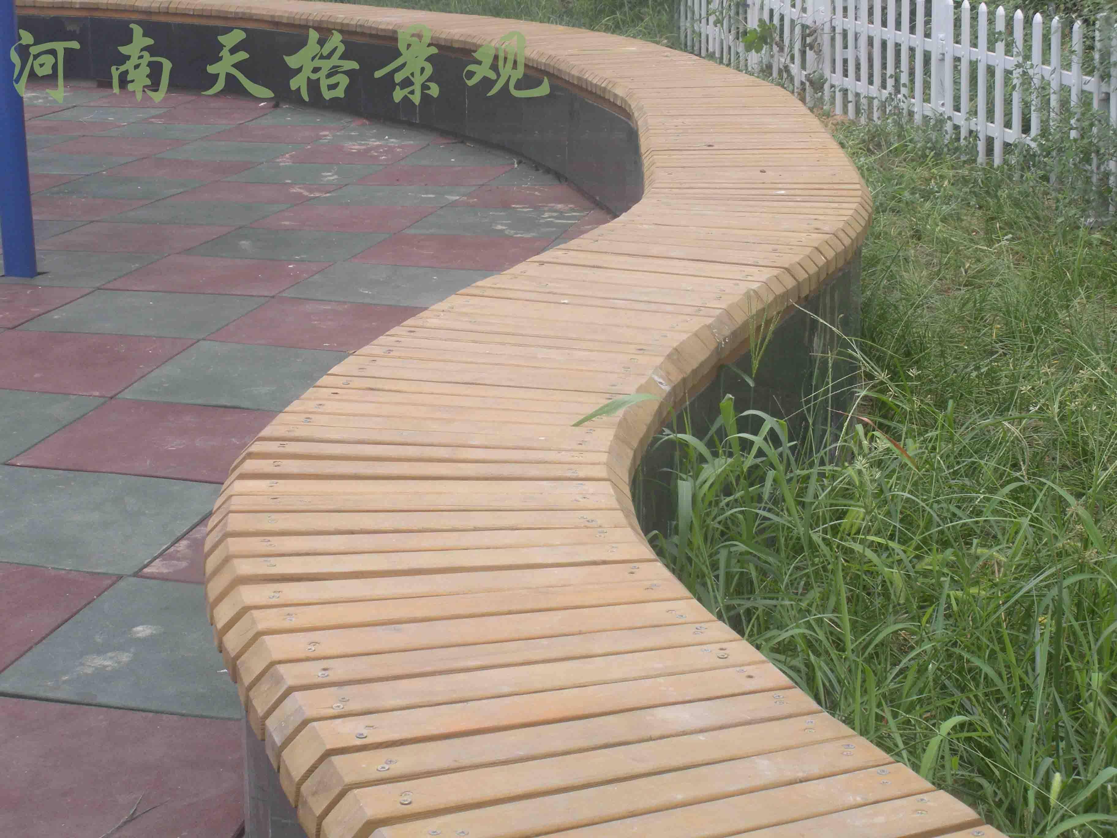 园林坐凳节点手绘图