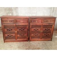 老挝大红酸枝鞋柜,交趾黄檀鞋柜,老红木鞋柜