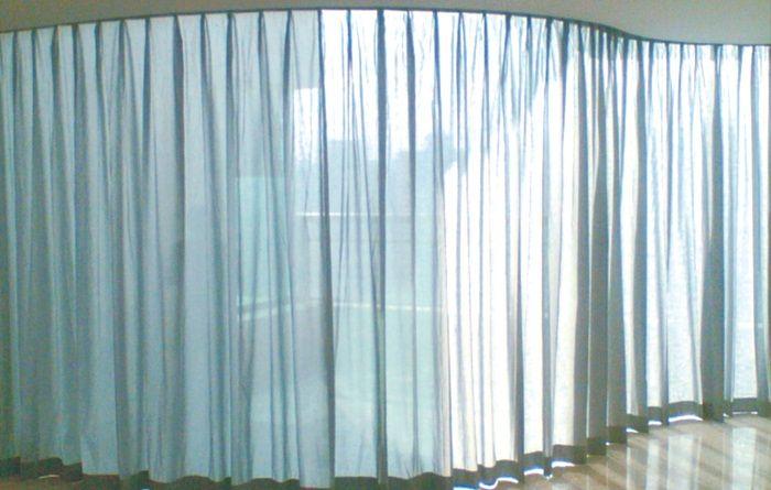 长沙电动窗帘智能弧形轨
