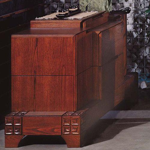 东莞实木家具,餐厅家具,榆木餐边柜