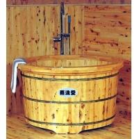 香柏木泡澡圆形木盆,高级淋浴型