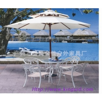 中柱木制太阳伞、户外伞、遮阳伞、户外家具