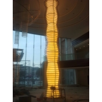 上海双玉云石灯饰,透光圆柱装饰